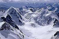 ジグソーパズル1000ピースDiy山雪雲スタイル家の装飾のためのモダンな抽象(50x75cmカスタマイズ可能な写真)