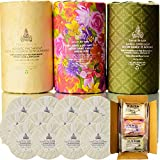 Ancient Ayurveda Gift Set (12 Bars), Ylang Ylang, Basil and Pine Tar Soaps – With Natural Woodsy Scent and Skin Scrub Exfoliation & Shea Butter – Pure Vegan Soap Bar Handmade with Pine Tar, Olive, Coconut & Moisturizing Organic essential Oils