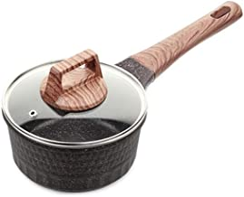 NXYCG Maifan Stone Non stick Food Supplement Pot Mini Soup Pot Hot Milk Pot 13cm Single Handle