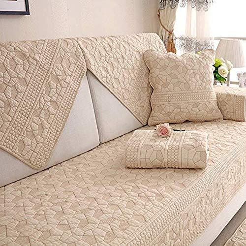 Zzy Sofá composable de algodón Tiro Funda Almohadilla, sofá para Perros Mascotas Durante Toda la Temporada Antideslizante Cubierta Muebles Protector -1 Pieza - Forma-G 110x240cm(43x94inch)