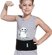 پشتیبانی کمربند کمر بچه های Luwint کمربند کمر - باند شکمی سینه شکم برای کمر درد کمر درد رقص بسکتبال والیبال یوگا بسکتبال (سیاه)