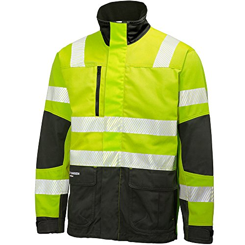 Helly Hansen werkkleding Helly Hansen York jas En471 geel/houtskool 3XL