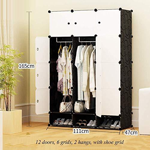 ZLMI Simple Armoire Simple Moderne Assemblée Petite Armoire Chambre en Plastique Combinaison Rangement casier,111 * 47 * 183CM