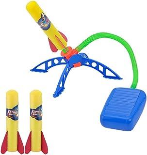 ZoneYan Barn raketuppskjutningsleksak, raketleksak för barn, luftkraft, raketleksaksset, rolig raketlauncher-present, hopp...