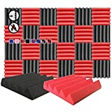Arrowzoom 24 Acoustic Panels Wedge Sound Absorbing Acoustic...