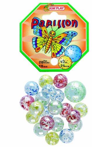 KimPlay - 500810 - Jeu de Plein Air - 20 Billes + 1 Calots - Papillon