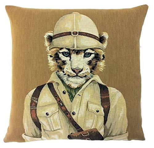 565pir Tigress Funda de Almohada Decorativa de Tigre Safari Throw Pillow Colonial Decor Tigress Lover Regalo Wildlife Decor