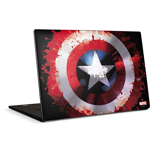 Skinit Decal Laptop Skin for Dell XPS 15in (2017) - Officially Licensed Marvel/Disney Captain America Shield Design