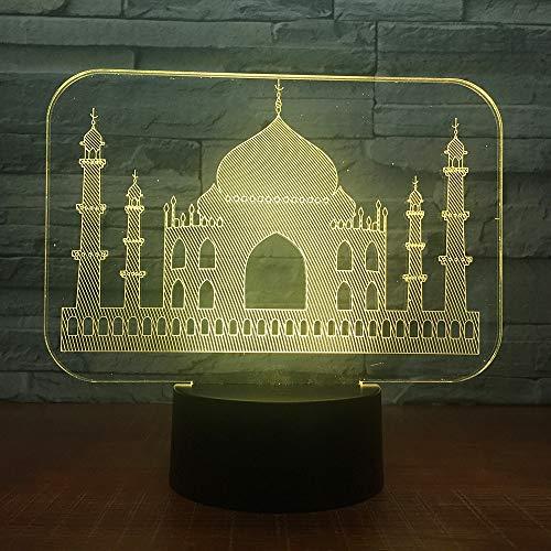 Colorido USB 3D LED Lámpara Dormitorio Decoración de oficina Escritorio Lámpara de...