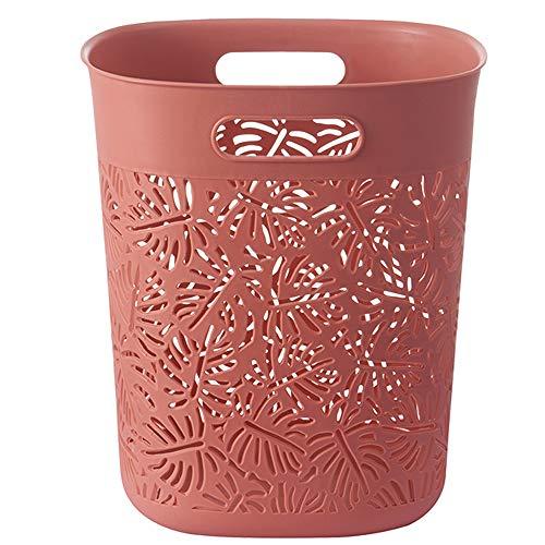 Trash Can Poubelle Domestique découverte Salle de Bains Salon Chambre à Coucher Cuisine Toilettes Corbeille à Papier Creux antidérapant résistant aux Rayures résistant aux Chocs et Durable
