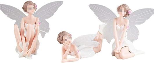 N/R DIY Miniatura Adornos de Flores de ángel Blanco decoración del hogar Regalos de Dibujos Animados Escritorio decoración de la Torta del Coche, Blanco