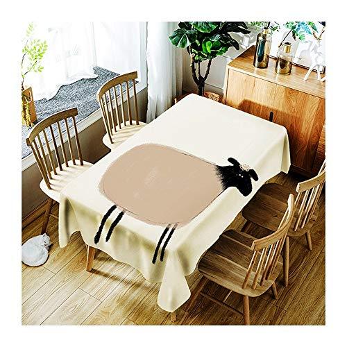 ZHAOXIANGXIANG Tapis De Table Minimaliste Cute Cartoon Mouton Décoration Maison Pique-Nique Dîner Table Cloth Imprimer,90Cm×130Cm