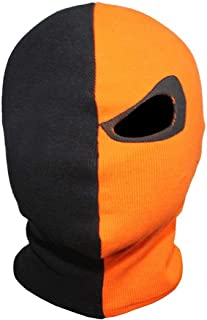 Innturt Cosplay Fabric Mask Balaclava Hood Face Black Orange