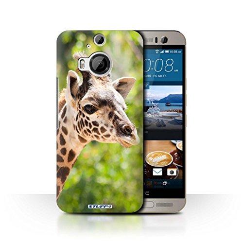 Hülle Für HTC One M9+/Plus Wilde Tiere Giraffe Design Transparent Ultra Dünn Klar Hart Schutz Handyhülle Hülle