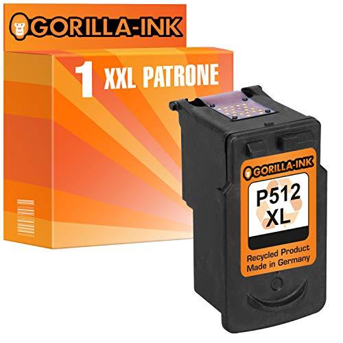 Gorilla-Ink 1 Druckerpatrone für Canon PG-512 XL | Black 40ml XXL-Inhalt