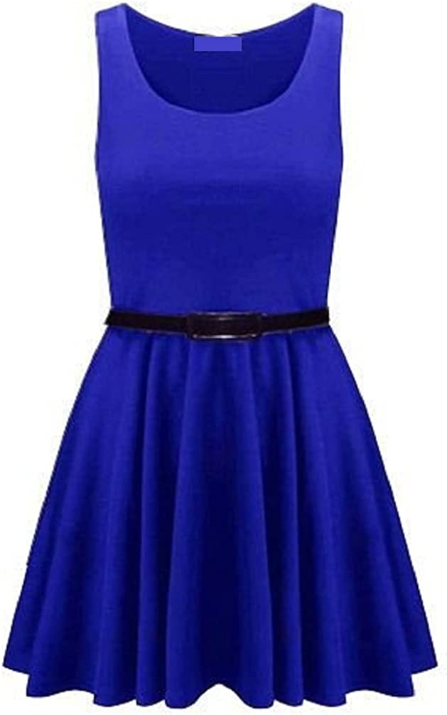 Fashion 4 Life! Women's Plain Skater Dress