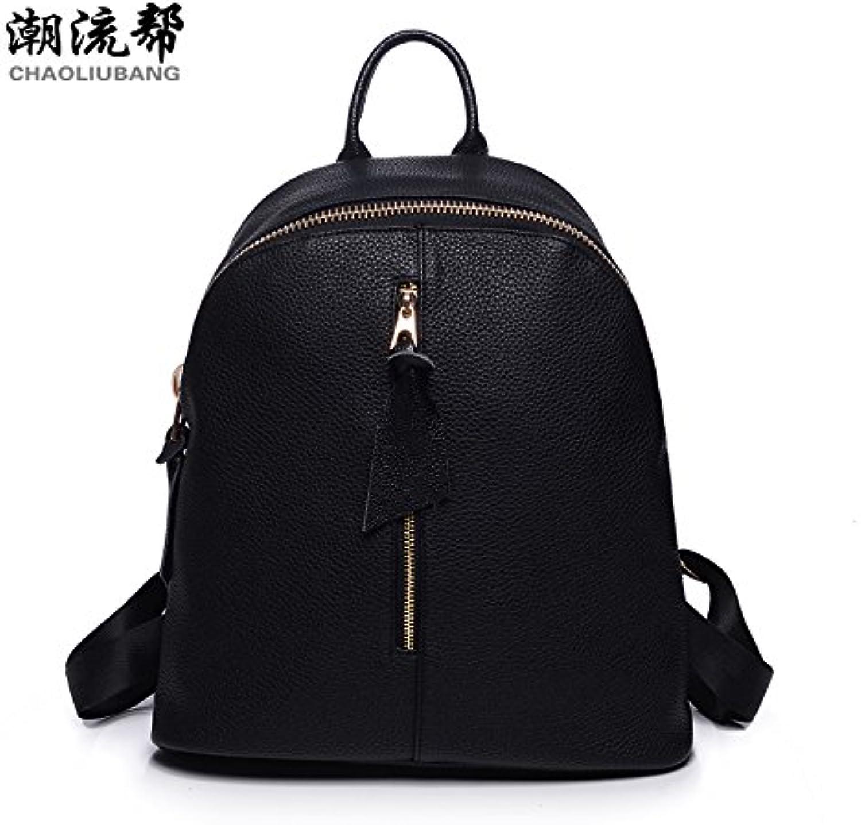 Casual Damen Schultertasche oxford Tuch PU Leder koreanische Version Tasche student Taschen, Nylon mit PU Leder 2