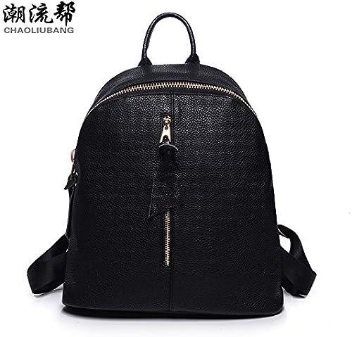 MesLes dames occasionnels sac d'épaule en tissu oxford cuir PU sac version coréenne de sacs en nylon avec des étudiants, cuir synthétique 2