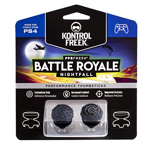 KontrolFreek FPS Freek Battle Royale Nightfall para PlayStation 4 (PS4) Controller | Performance Thumbsticks | 2 sricks de gran altura, Convexos | Negro