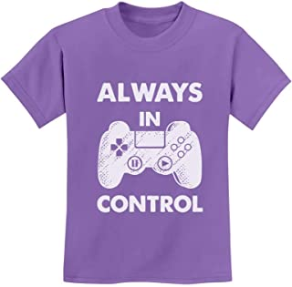 Tstars - Always in Control Novelty Gamer Video Game Youth Kids T-Shirt