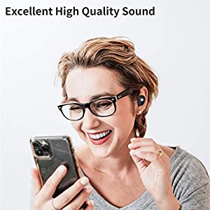 WSHDZ True Wireless Earbuds Bluetooth 5.1 Headphones S11 Smart Touch Control Stereo Earphone IPX6 Waterproof in Ear Built in Mic Headset for iPhone and Android with Deep Bass for Sports/Gym