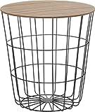 Meinposten. Beistelltisch Tisch Stauraum Korb Couchtisch Metall Nachttisch schwarz B-Ware