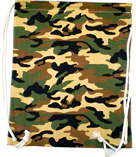 Sacs Sac à dos homme femme Hipster Enfant Sac Gym Sac tarnfarbend Turn Sac toile sac marin Plastique – Camo Wood 4775