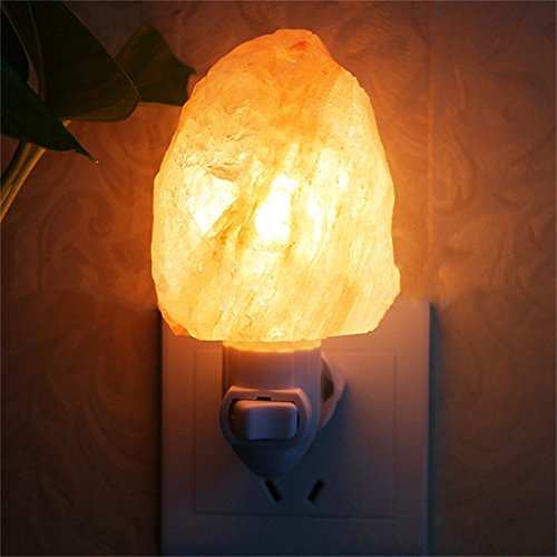 icase4u® 100% Salt Range Pakistan Kristallsalz Lampe Nachtlicht, Freigeben von Negativen Lonen um die Luft zu Reinigen(Natureshape)