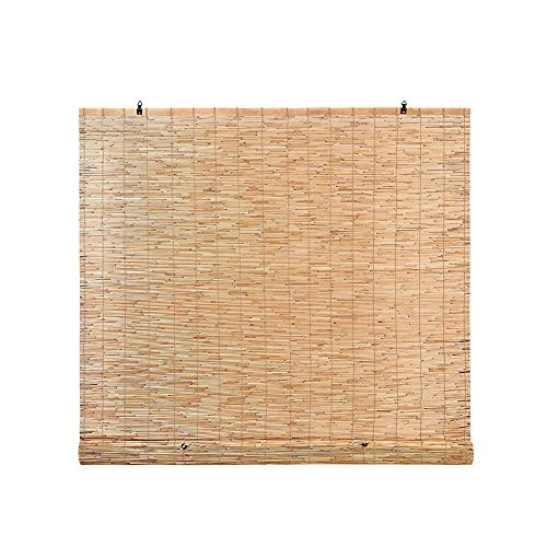 WANGTAOTAO Persianas De Caña Natural Persianas Enrollables De Bambú Ventana De Sombra De Caña Enrollable Pantalla De Privacidad para Patio Transpirable Sombrilla,39 * 98IN/1 * 2.5M