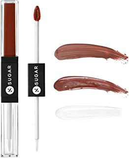 Sponsored Ad - SUGAR Cosmetics Smudge Me Not Lip Duo, 2-in-1 Lip Essentials, Travel Friendly - 12 Don Fawn (Yellow Brown)