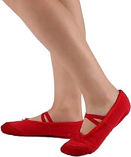 09b6ae72 Leezo - Zapatillas clásicas de ballet planas, para practicar baile y yoga,  de tela