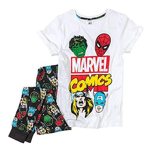 Fashion by Purdashian Pijama/pantalón corto para mujer, diseño de Disney/Marvel
