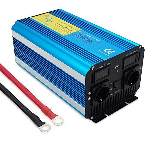 Yinleader Convertisseur 12v 220v Pur Sinus 2500W/5000W convertisseur Pur Sinus