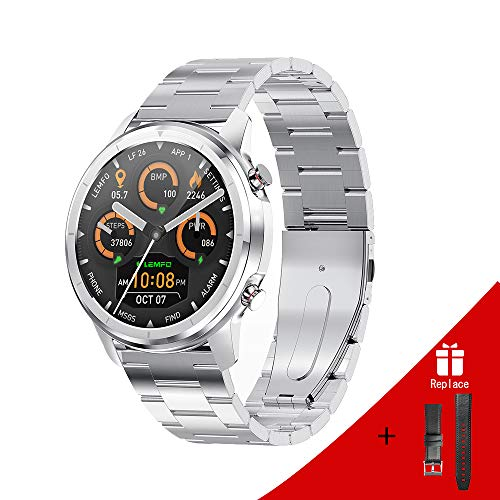 LEMFO Smart Watch 1.3 Inch Newest smart watch for men Full Touch Screen, Steel Stainless Fitness Trackers, Email,Facebook Call Notification For Android iOS,Various Dials With Six Sports Modes