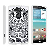 TurtleArmor | Compatible with LG G Vista Case | LG G Pro 2 Lite Case [Slim Duo] Slim Snap On 2 Piece Hard Cover Protector Case Girl on White - Lotus Flower