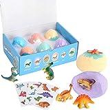 Foaynn Bath Bombs for Kids-Organic and Natural Bath Fizzer Bath Bombs with Surprise Toys Inside Dino Egg Bath Bomb Gift Set