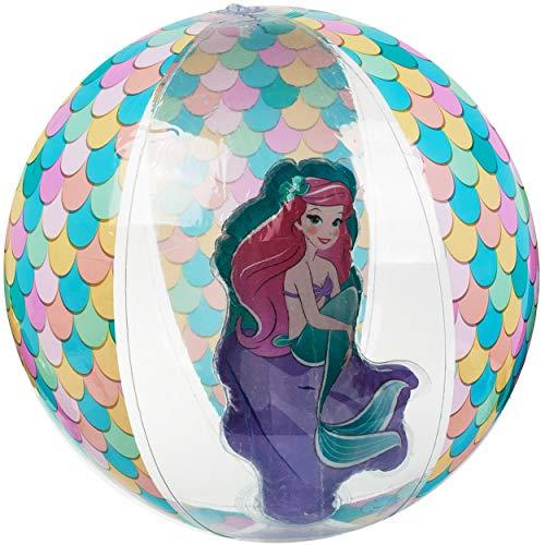 alles-meine.de GmbH Strandball / Ball aufblasbar - Disney Princess - Prinzessin - Arielle - Ø 43 cm - transparent & durchsichtig - Wasserball - aufblasbarer großer Ball / Beachba..