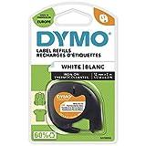 DYMO LT Bügeletiketten Authentisch | schwarz auf weiß | 12 mm x 4 m | Stoffetiketten | für LetraTag-Beschriftungsgerät
