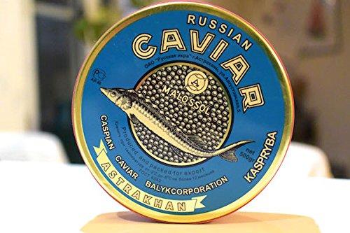 キャビア・ベルーガ(カザフスタンカスピ海産)・フレッシュ・天然・500g本詰缶