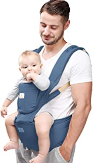 Baby Carrier Hip Seat 360 Ergonomic 6-in-1 Convertible Hipseat Baby Carrier with Breastfeeding Nursing Cover for All Seaso...