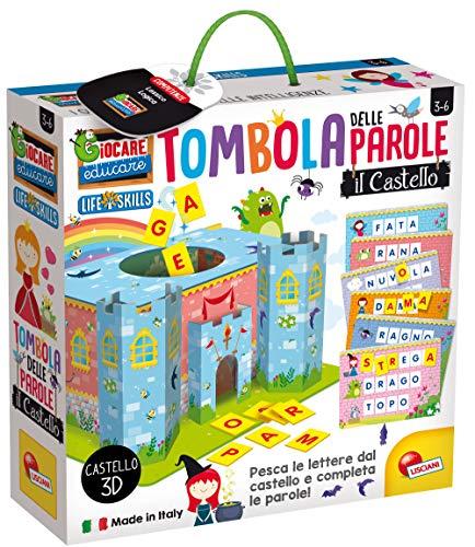 Lisciani Giochi- Giocare Educare, Life Skills Tombola Lettere e Parole, Il Castello, 72620