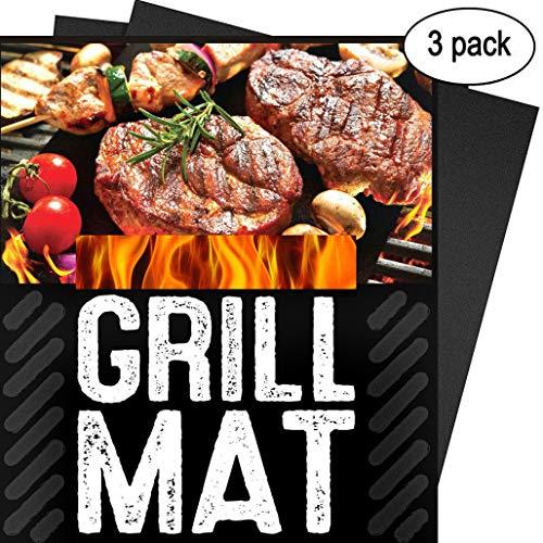 Set de 3 Tapis de Cuisson XiDe Haute Qualité pour Barbecue et Four Feuilles de BBQ Parfait pour Gaz Charbon Grill électrique Four - Réutilisable et Lave-Vaisselle 15,75 x 13\