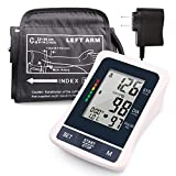 LotFancy Upper Arm Blood Pressure Monitor, Upper Arm Cuff, Digital BP Machine, Fully Automatic Blood Pressure Machine with Large LCD Display, Carrying Case and Adapter Included