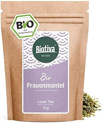 Alchémille de thé bio (70g) - haute Qualité biologique - recommandé par les sages-femmes - Aide à la diarrhée - en bouteille et contrôlée en Allemagne (DE-ÖKO-005)