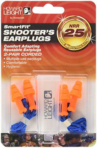 Howard Leight by Honeywell SmartFit Corded Reusable Shooting Earplugs, 2-Pairs (R-01520)