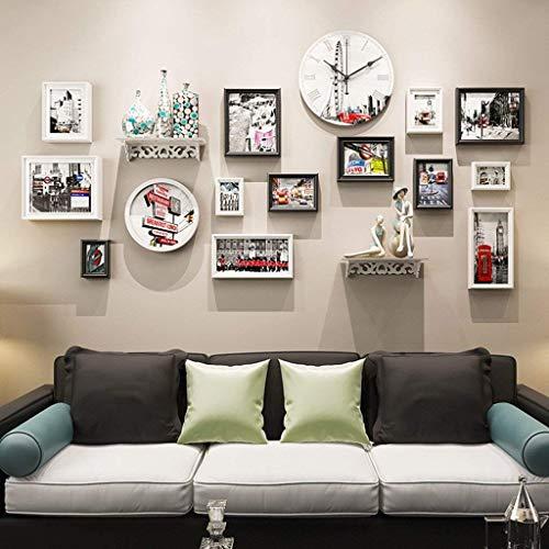 Wand- Startseite Mall- Holz modernen Bilderrahmen Wand |Kombinierte Bilderrahmen |Für Korridor Wohnzimmer |14er-Set (Farbe: Style4)