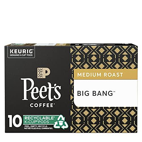 Peet's Coffee Big Bang K Cup Coffee Pods for Keurig Brewers, Medium Roast, 10 Pods, 4.2oz