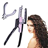 WEON 6d Hair Extension Connector Machine, No-Trace Quick Kit Connector Professional Hair Extension Keratin,Extensions Tool Fusion Heat Iron Connector Equipment for Salon