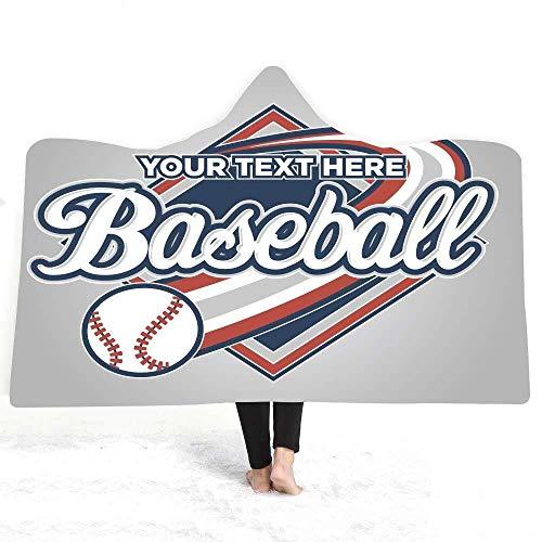 Wearable Throw Blanket, Baseball Kuscheldecken For Erwachsene Kinder Flanell Stehen Decken Sofa Blanket Travel Blanket, Maschinenwaschbar (Color : A, Size : 130 * 150 cm)