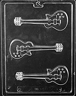Electric Guitar Chocolate Mold - J110 - Includes National Cake Supply Melting & Chocolate Molding Instructions